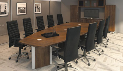 Artopex Wood Veneer Conference Room Furniture