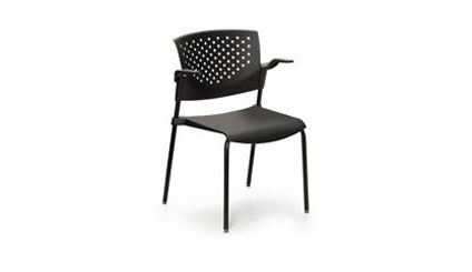 ART DESIGN INTERNATIONAL PENTA STACKING CHAIR WITH ARMS