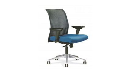 Allseating Zip Mesh Back Task Office Chair