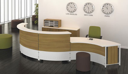 Artopex Reception Desk Circle With Side Unit