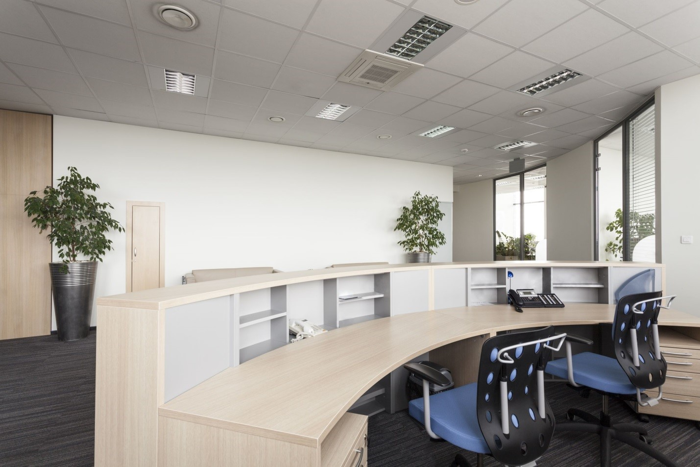 Reception furniture desks shopping guide alliance for Office design considerations